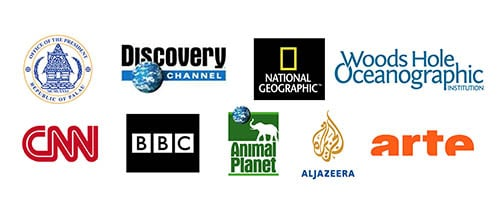 Production logos filming TV broadcast expedition clients media production