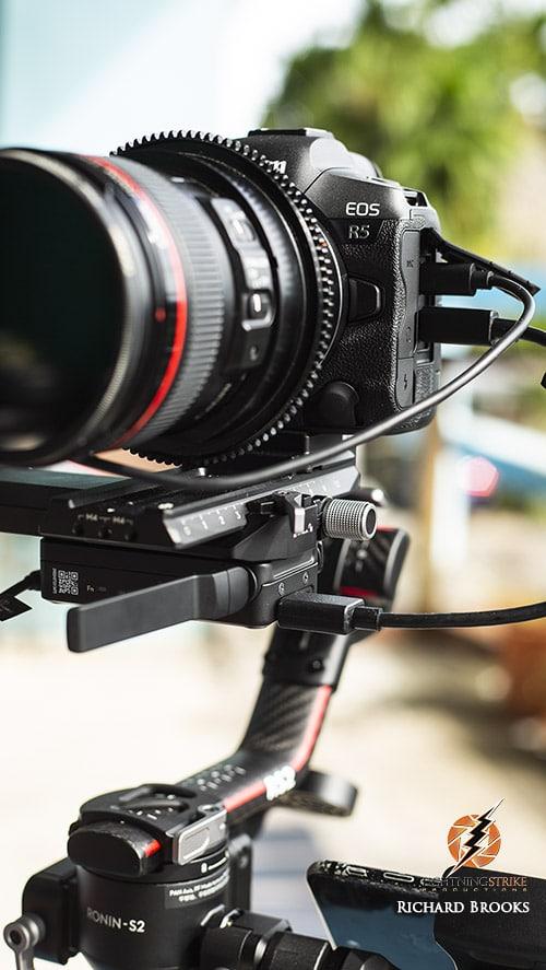 DJI 3 axis gimbal with canon R5 camera in Palau